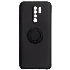 Чехол Ring Color Xiaomi Redmi 9 (черный)