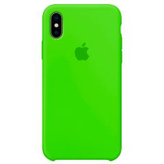 Чехол Silicone Case iPhone Xs Max (салатовый)
