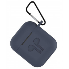 Чехол для AirPods Colors с карабином (темно-синий)