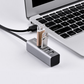 USB-хаб Hoco HB1 Line Machine (Grey)