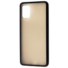 Чехол LikGus Maxshield матовый Samsung Galaxy A71 (черный)