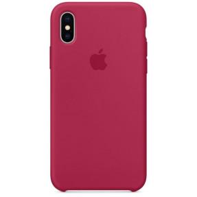 Чехол Silicone Case iPhone Xs Max (малиновый)