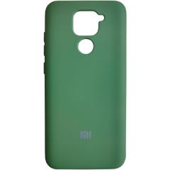 Чехол Silicone Case Xiaomi Redmi Note 9 (темно-зеленый)