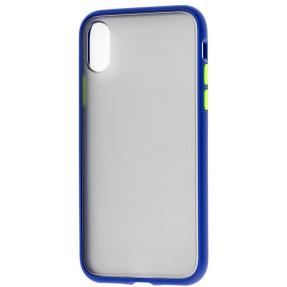 Чехол LikGus Maxshield матовый iPhone XS Max (темно-синий)