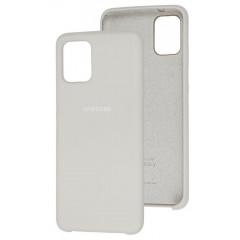 Чехол Silky Samsung Galaxy A41 (серый)