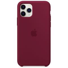 Чехол Silicone Case Iphone 11 Pro Max (бордовый)