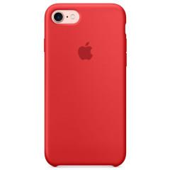 Чехол Silicone Case iPhone 7/8/SE 2020 (красный)