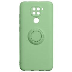Чехол Ring Color Xiaomi Redmi Note 9 (зеленый)