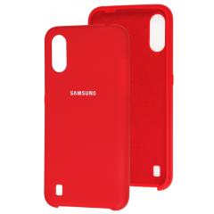 Чехол Silky Samsung Galaxy A01 (красный)