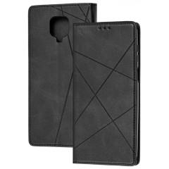 Книга Business Leather Xiaomi Redmi Note 9s/9 Pro (черный)