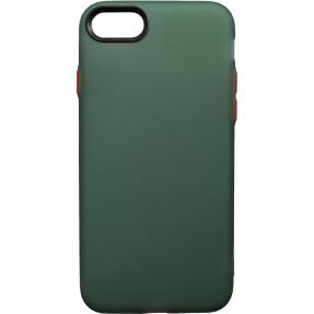Чехол силиконовый матовый iPhone 7/8 (зелено-красный)