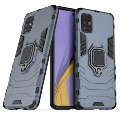 Чехол Armor + подставка Samsung Galaxy A31 (серый)