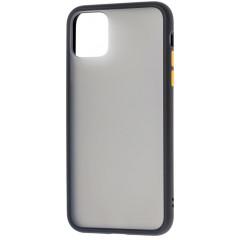 Чехол LikGus Maxshield матовый iPhone 11 Pro Max (черно-желтый)