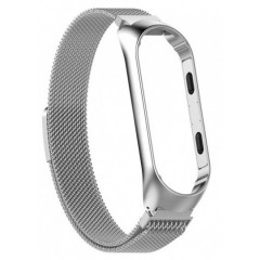 Ремешок для Xiaomi Band 3/4 Metal Magnit (Silver)