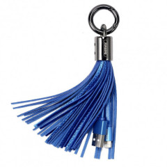 Remax Tassels Ring Lightning 3.0A Data/Charge 20cm, blue