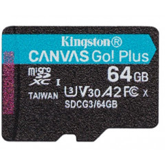 Kingston Canvas Go! Plus microSD[SDCG3/64GBSP]