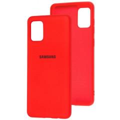 Чехол Silicone Case Samsung Galaxy A31 (красный)