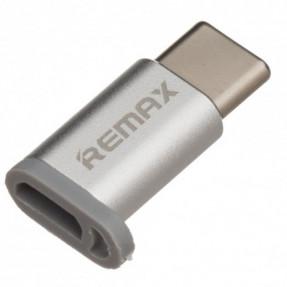 Адаптер Remax RA-USB1 Micro USB Type-C (Silver)