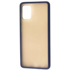 Чехол LikGus Maxshield матовый Samsung Galaxy A51 (темно-синий)