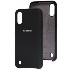 Чехол Silky Samsung Galaxy A01 (черный)