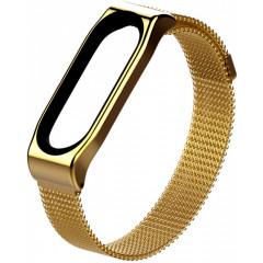 Ремешок для Xiaomi Band 3/4 Metal Magnit (Gold)