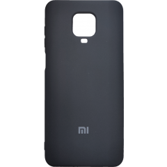 Чехол Silicone Case Xiaomi Redmi Note 9s/9 Pro (черный)