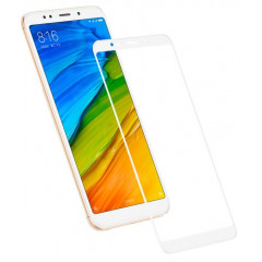 Защитное стекло Xiaomi Redmi 5 Plus (5D white) 0.33mm