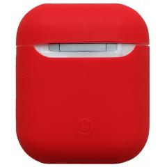 Чехол для Airpods силиконовый (красный)