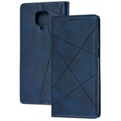 Книга Business Leather Xiaomi Redmi Note 9s/9 Pro (синий)
