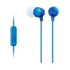 Вакуумные наушники-гарнитура Sony EX-15AP Original (Blue)