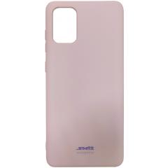 Чехол Soft Touch Samsung Galaxy A71 (бежевый)