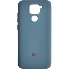Чехол Silicone Case Xiaomi Redmi Note 9 (синий)