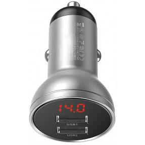 Автомобильное зарядное устройство Baseus Digital Display Dual Car Charger 4.8A (CCBX-0S)