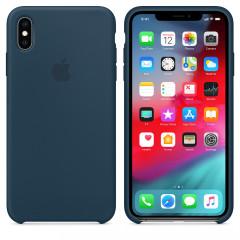 Чехол Silicone Case iPhone Xs Max (морской синий)