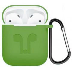 Чехол для AirPods Colors с карабином (зеленый)