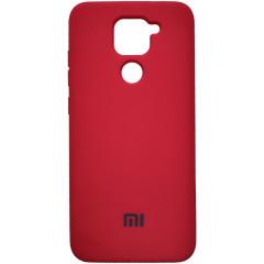 Чехол Silicone Case Xiaomi Redmi Note 9 (красный)