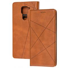 Книга Business Leather Xiaomi Redmi Note 9 (коричневый)