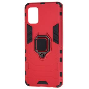 Чехол Armor + подставка Samsung Galaxy A31 (красный)