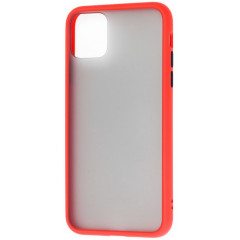 Чехол LikGus Maxshield матовый iPhone 11 Pro Max (красный)