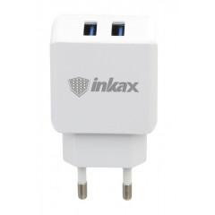 Сетевое зарядное устройства Inkax CD-01 USB 2in1 iPhone 5/6/7 (5V-2.1 mAh)