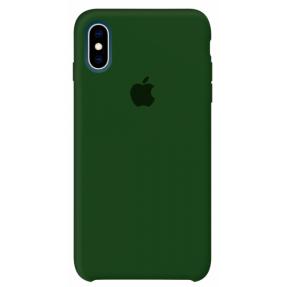 Чехол Silicone Case iPhone Xs Max (темно-зеленый)