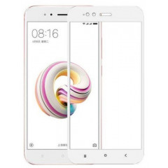 Защитное стекло для Xiaomi Mi A1/ Mi 5x (3D White) 0.33mm