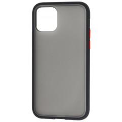Чехол LikGus Maxshield матовый iPhone 11 Pro Max (черно-красный)