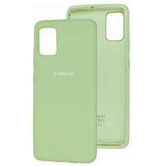 Чехол Silicone Case Samsung Galaxy A51 (салатовый)