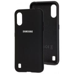 Чехол Silicone Case Samsung Galaxy A01 (черный)