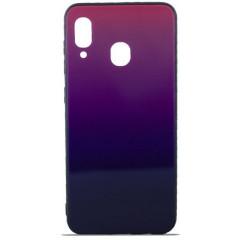 Чехол Glass Case Gradient Samsung A20 / A30 (Purple Barca)