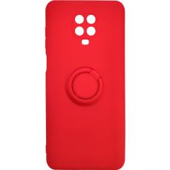 Чехол Ring Color Xiaomi Redmi Note 9s/9 Pro (красный)