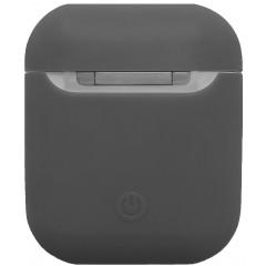 Чехол для Airpods силиконовый (темно-серый)