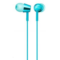 Вакуумные наушники-гарнитура Sony MDR-EX155AP (Blue)