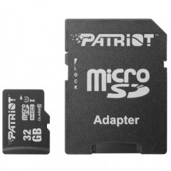 Карта памяти Patriot Micro SD 32gb (10cl) 80 Mb/s + Adapter